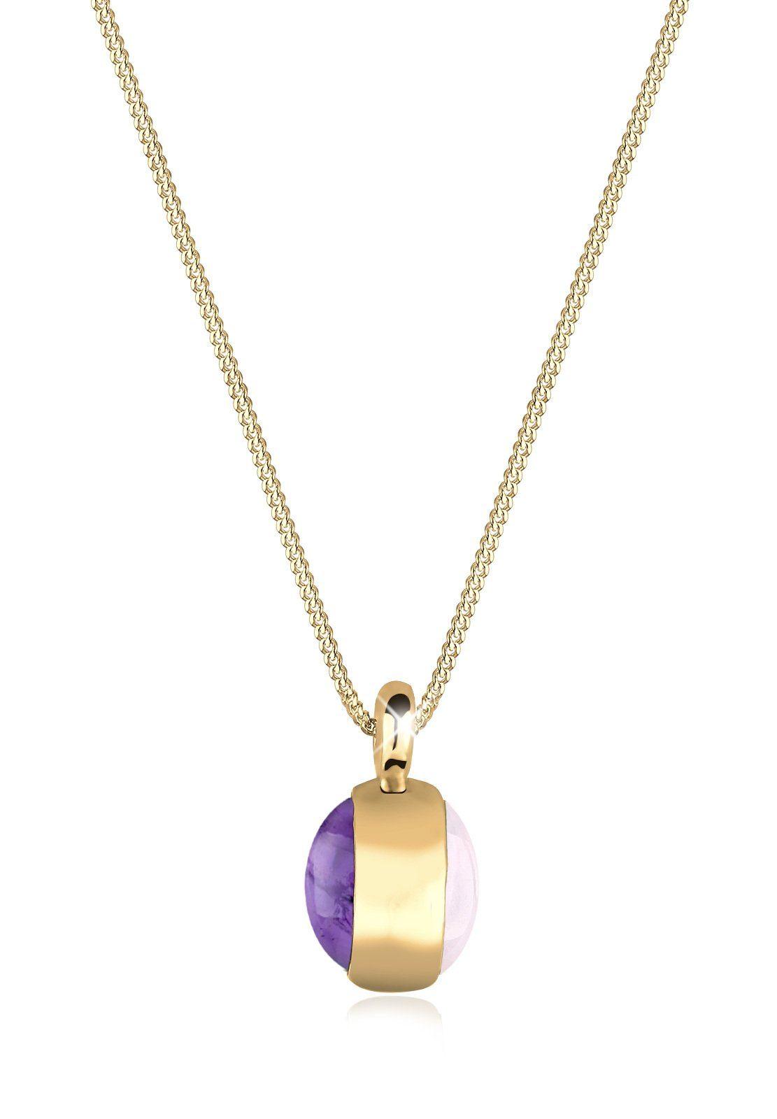 Goldhimmel Halskette »Amethyst Rosenquartz 925 Silber vergoldet S0101652«
