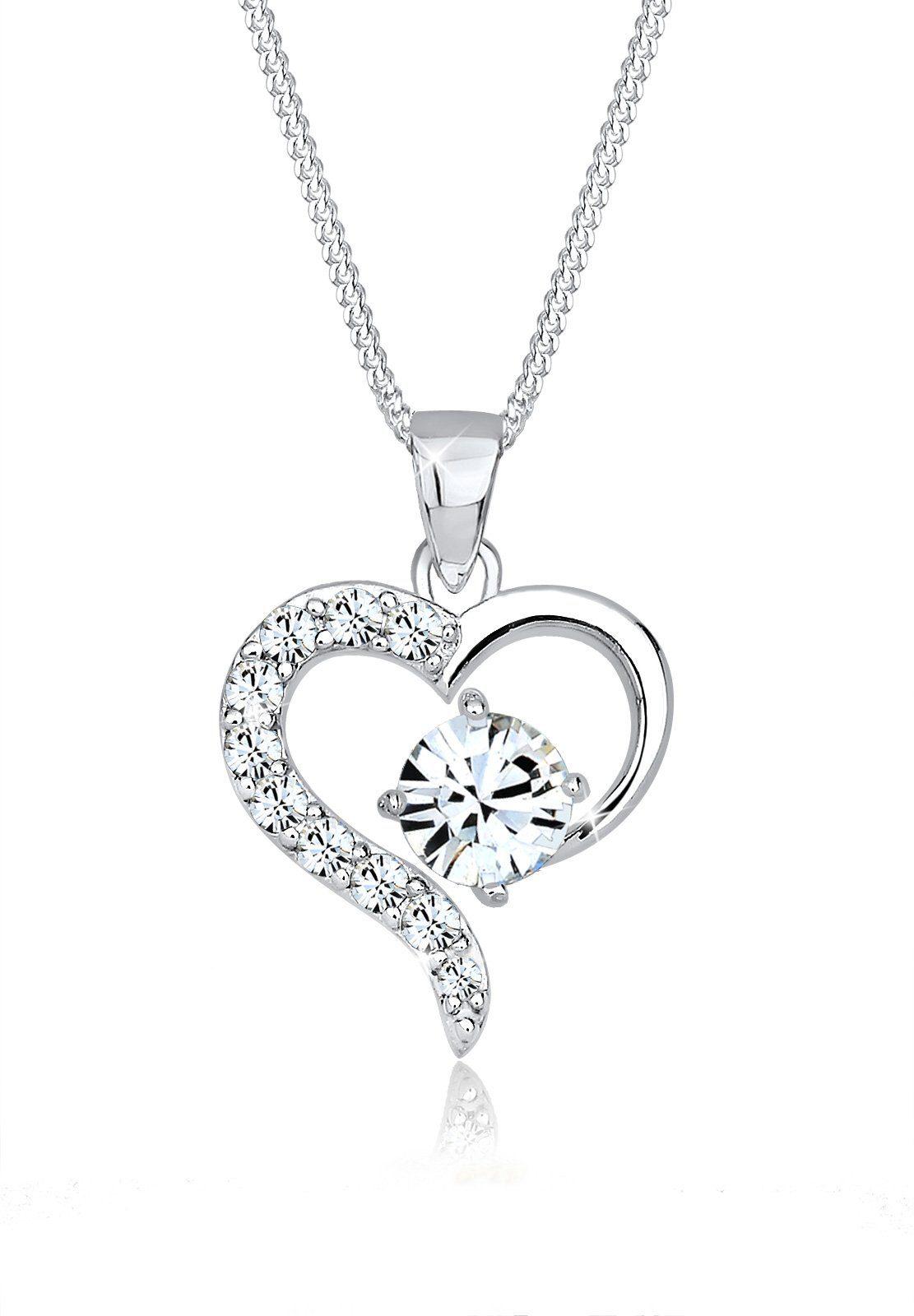 Elli Halskette »Herz Swarovski® Kristalle 925 Silber Belina«