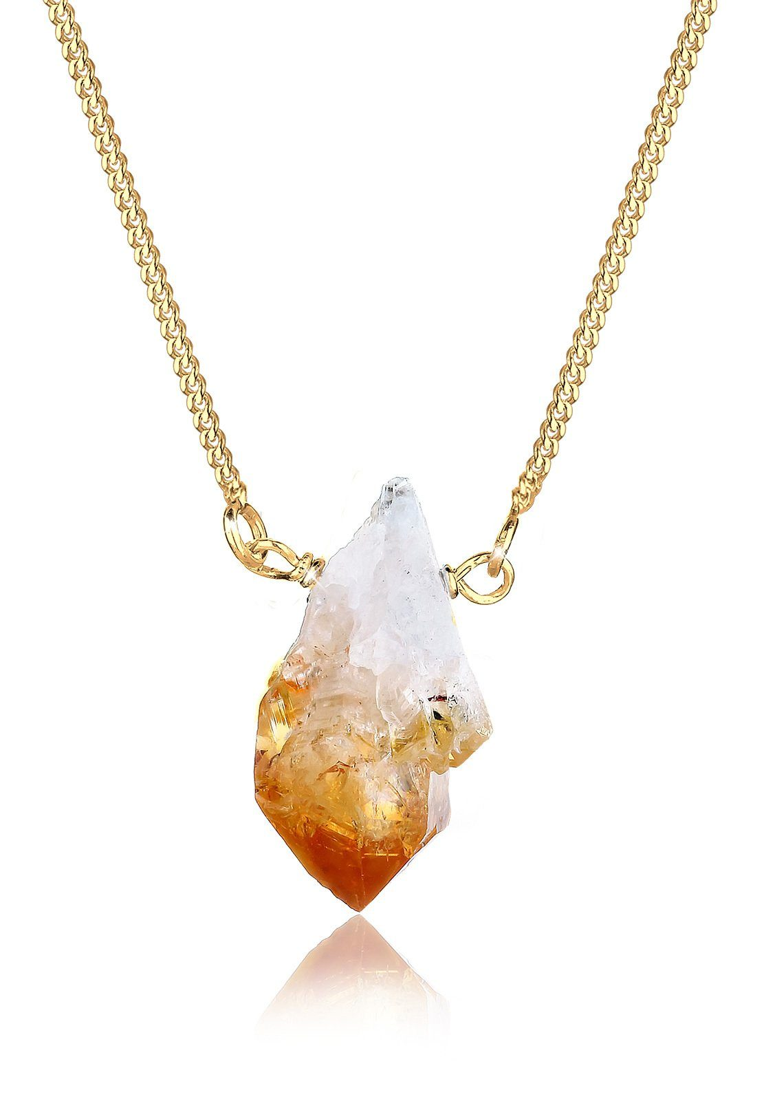 Elli Halskette »Edelstein Ametrin 925 Sterling Silber vergoldet«
