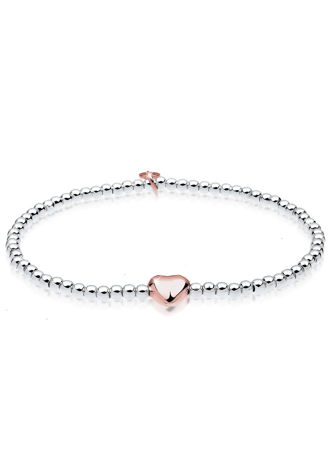 Elli Armband »Herz Liebe Kugeln 925 Sterling Silber S0204550715«