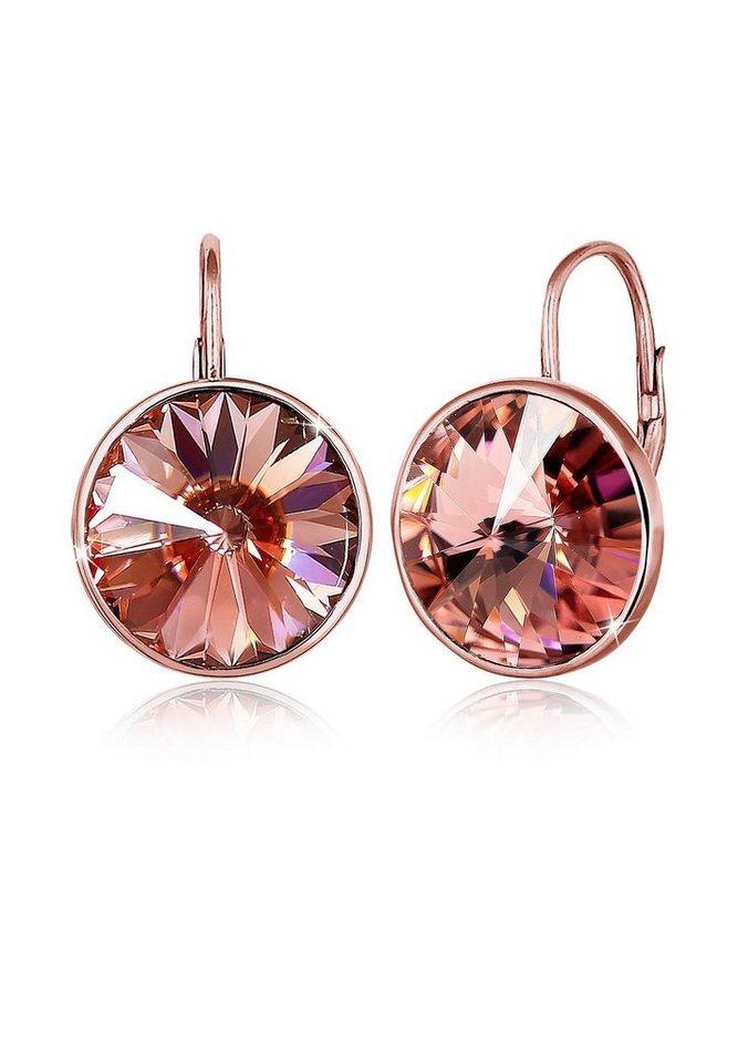 elli ohrringe swarovski kristall glamour elegant ros vergoldet online kaufen otto. Black Bedroom Furniture Sets. Home Design Ideas