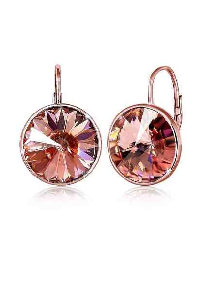 Elli Ohrringe »Swarovski® Kristall Glamour Elegant rosé vergoldet«