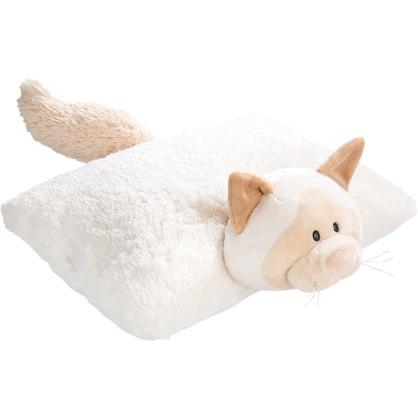 Kuscheltier Kissen Schneekatze Mädchen, 40 x 30 cm