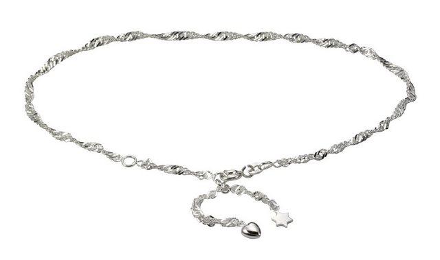 Vivance Fusskette »925/- Sterling Silber rhod. Herz + Stern« | Schmuck > Fußschmuck | Vivance