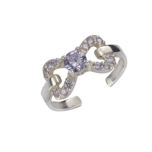 Vivance Toe-Ring »925/- Sterling Silber oxyd. 13x Kristalle«