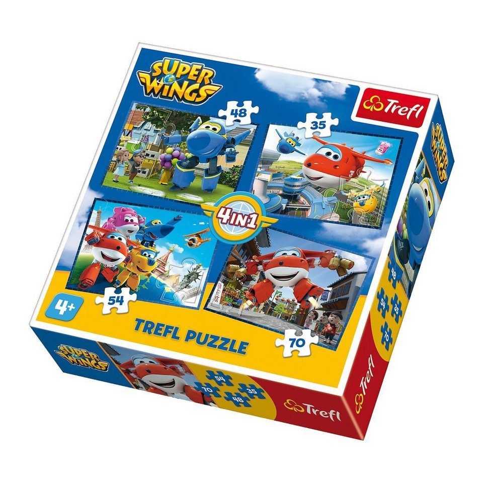 43d865d986 Trefl 4in1 Puzzle - 35/48/54/70 Teile - Super Wings online kaufen | OTTO