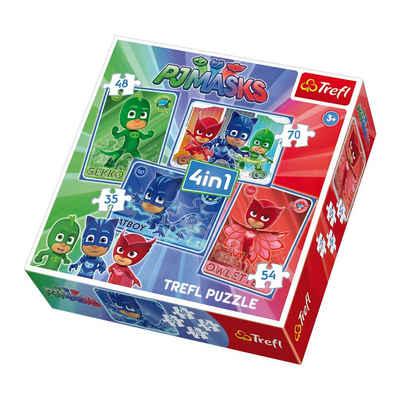 9b5c3ea2a7 Trefl 4in1 Puzzle - 35/48/54/70 Teile - PJ Masks