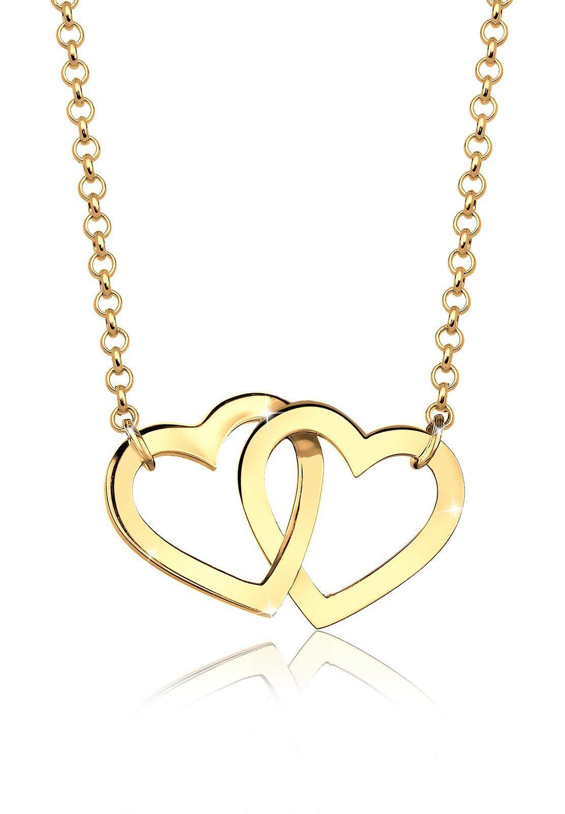 Goldhimmel Halskette »Herz Liebe 925 Sterling Silber vergoldet«