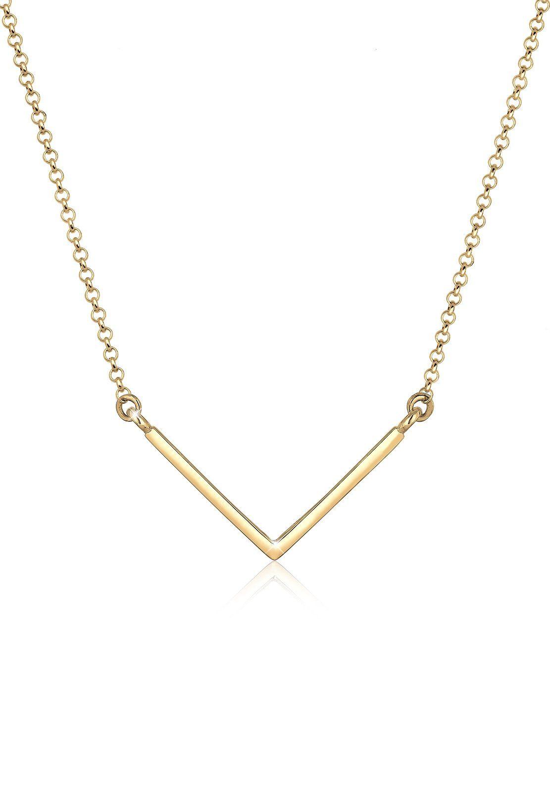 Elli Halskette »V-Kette Geo Minimal 925 Sterling Silber«