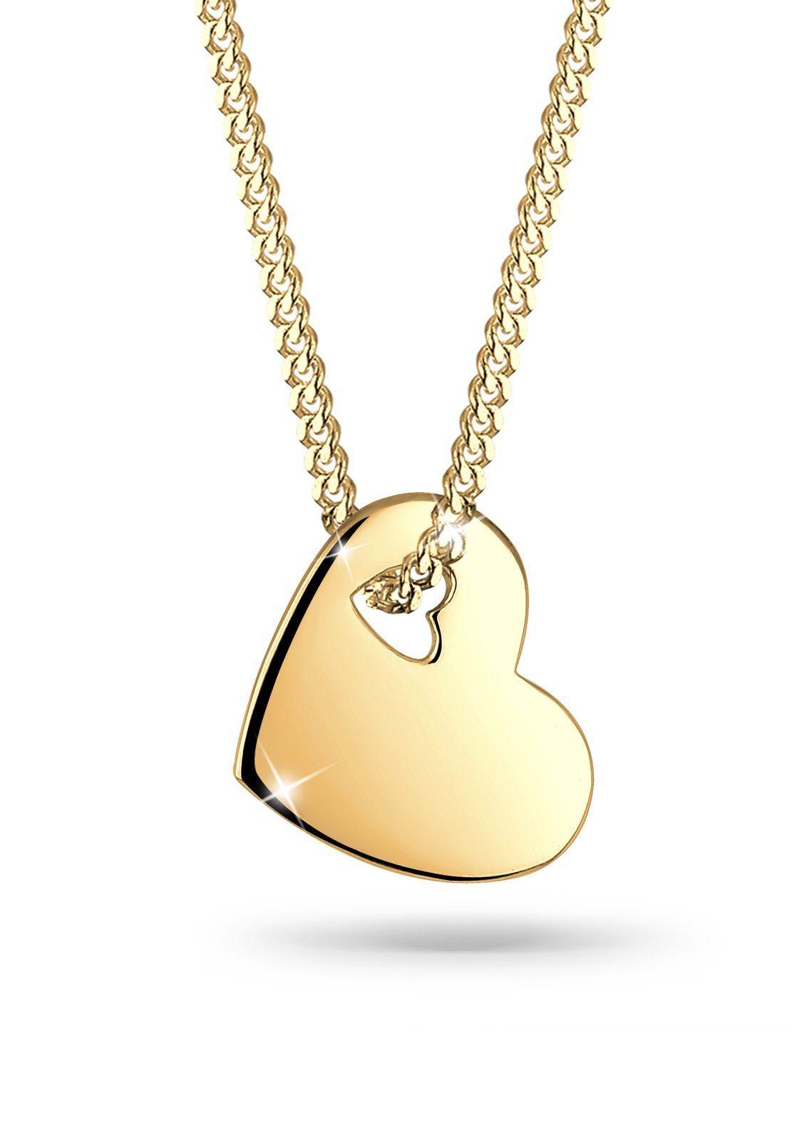 Goldhimmel Halskette »Herz 925 Sterling Silber S0107551311«