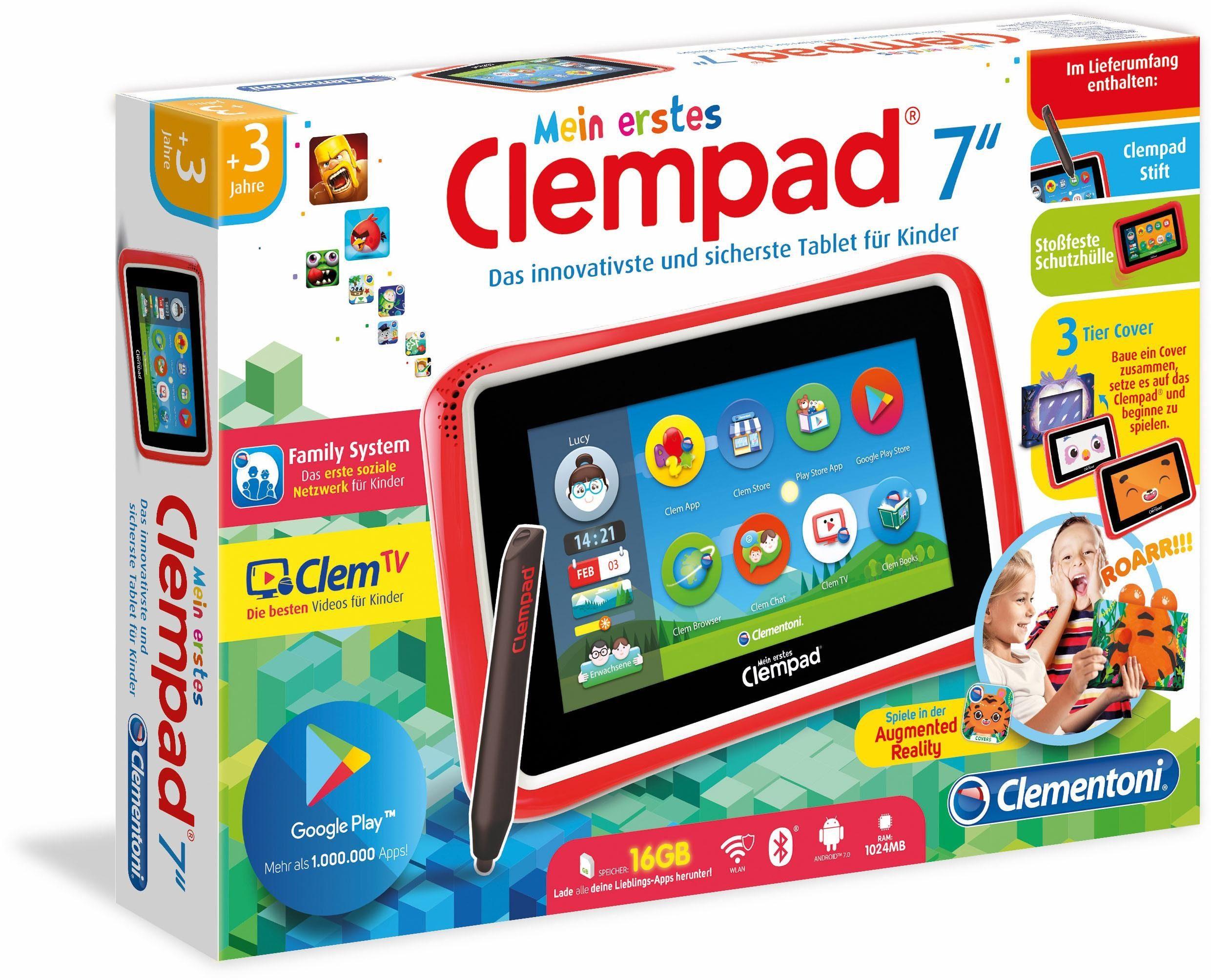 Clementoni Tablet mit Stift für Kinder, »Mein erstes Clempad 7.0«