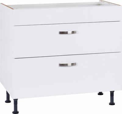 OPTIFIT Kochfeldumbauschrank »Cara« Breite 90 cm, mit Vollauszügen und Soft-Close-Funktion