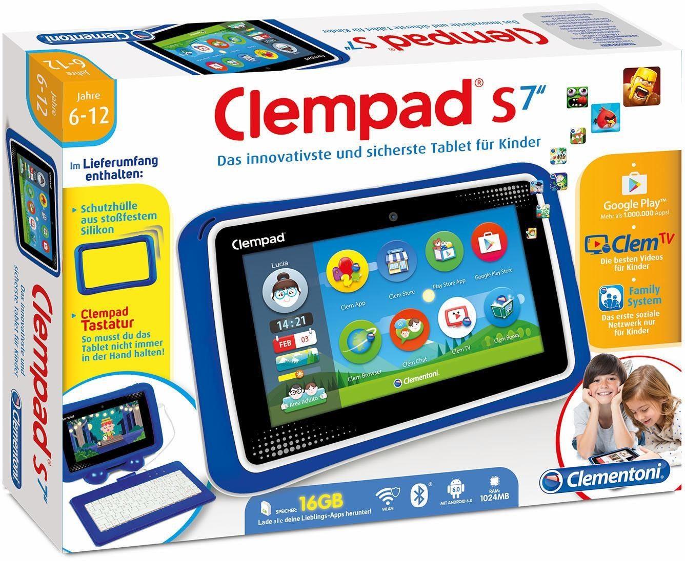 Clementoni Tablet mit Tastatur für Kinder, »Clempad S 7.0«