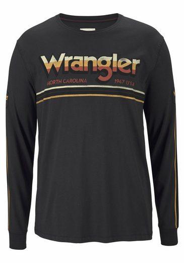 Wrangler Langarmshirt LS GRAPHIC TEE, mit Logoprint