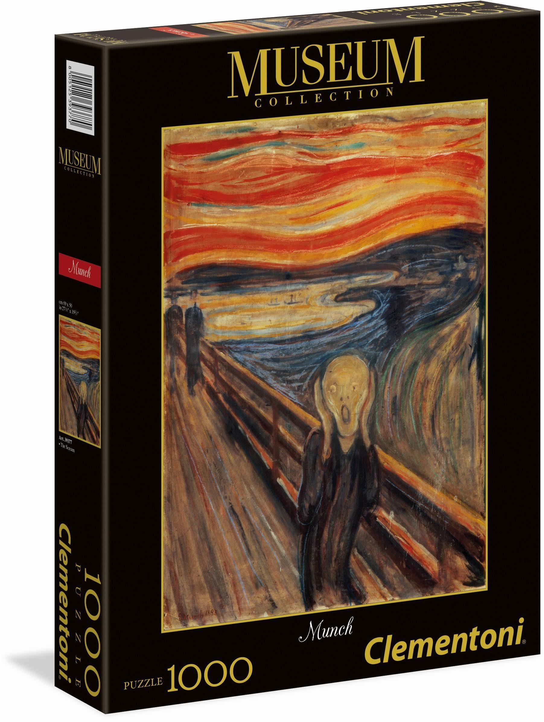 Clementoni Puzzle, 1000 Teile, »Modern Art Munch: Der Schrei«