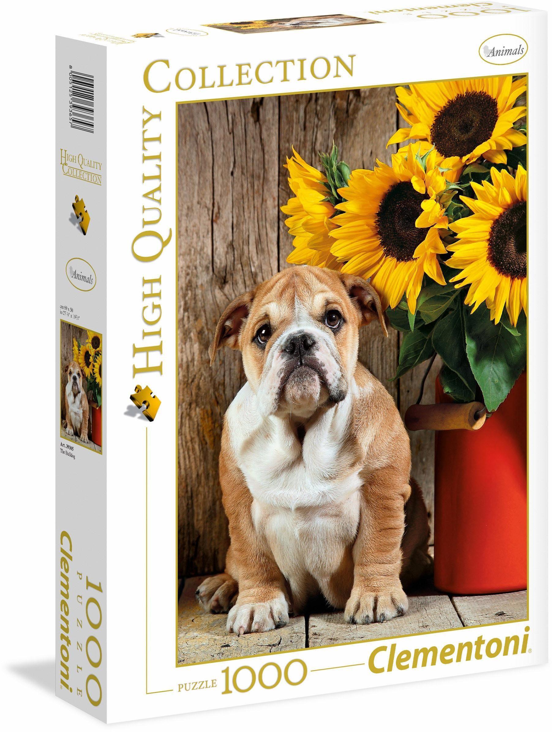 Clementoni Puzzle, 1000 Teile, »Bulldogge«
