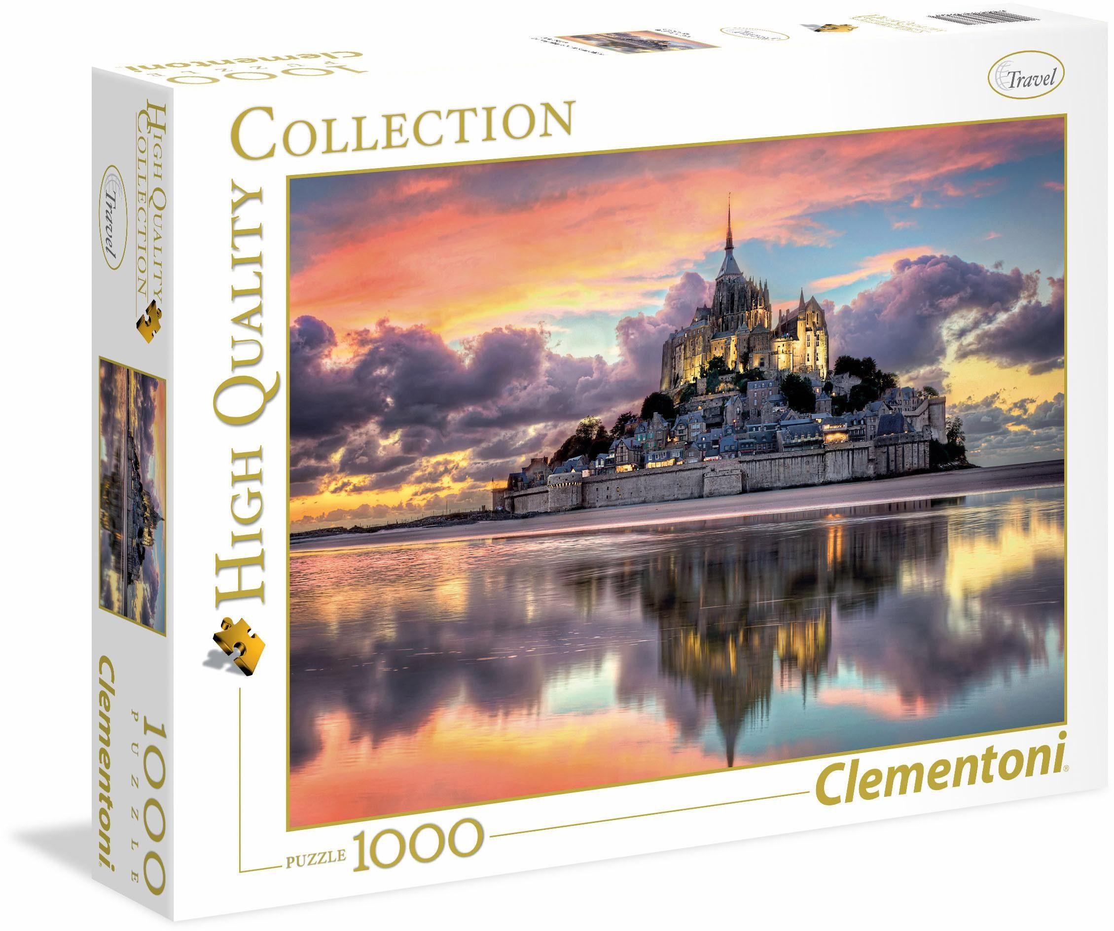 Clementoni Puzzle, 1000 Teile, »Der wunderschöne Mont Saint-Michel«