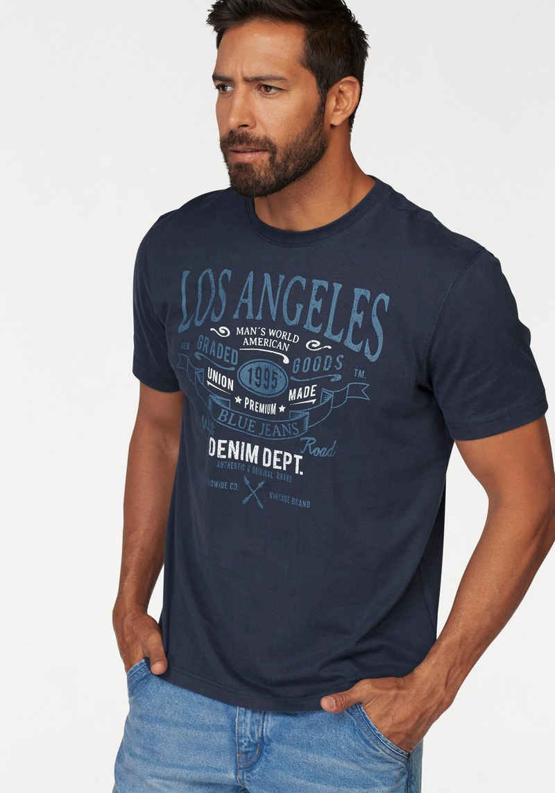 Man's World T-Shirt mit großem Print