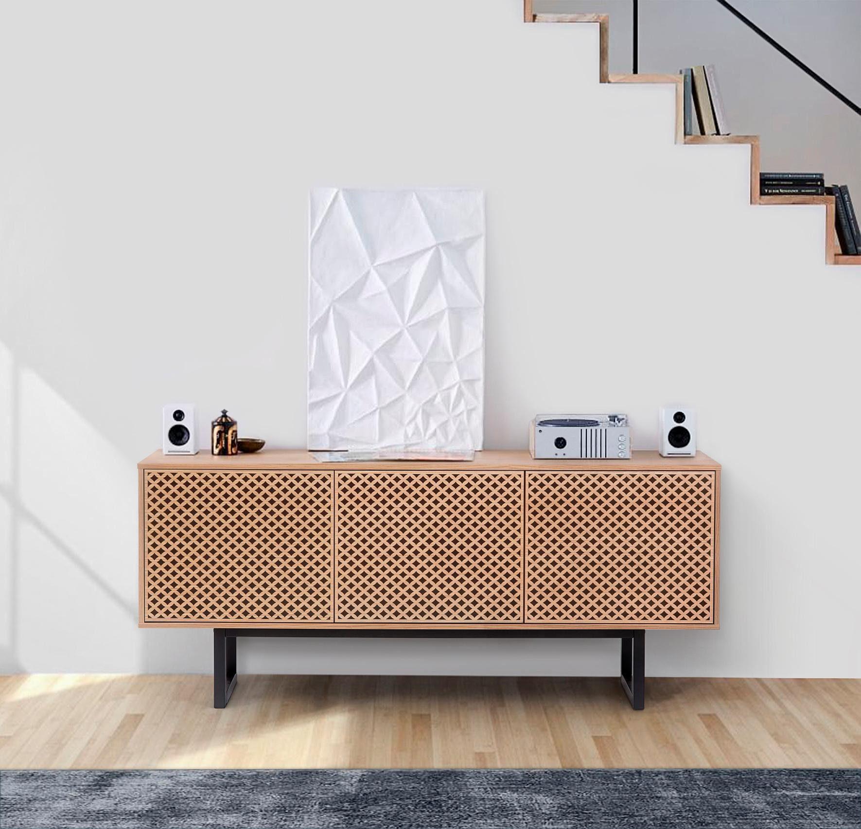 andas Sideboard mit drei Türen »Malena«, Breite 175 cm