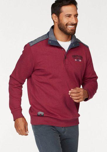 Man's World Sweatshirt, Chambray Einsätze an den Schultern