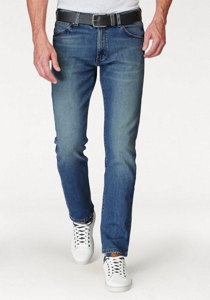 Herren Wrangler Stretch-Jeans Greensboro Regular Straight blau | 05400552900684