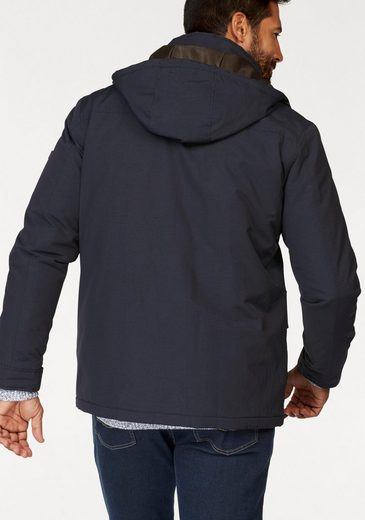 Man's World Langjacke, Kontrastfarben gefütterte Jacke
