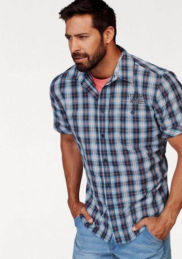 Schlussverkauf Man's World Kurzarmhemd mit kleinem Print