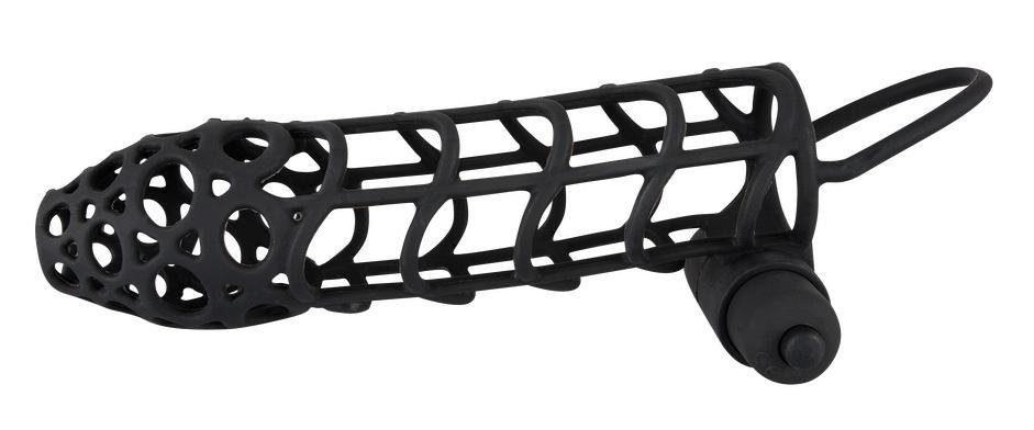 Black Velvets Penishülle Sleeve + Vibe, Mit Minivibrator