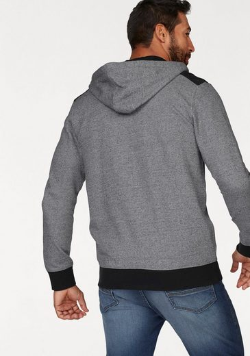 Man's World Kapuzensweatjacke, melierte Optik