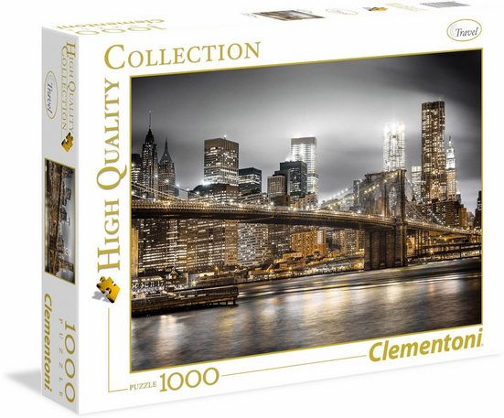 Clementoni® Puzzle »High Quality Collection - New York Skyline«, 1000 Puzzleteile, Made in Europe