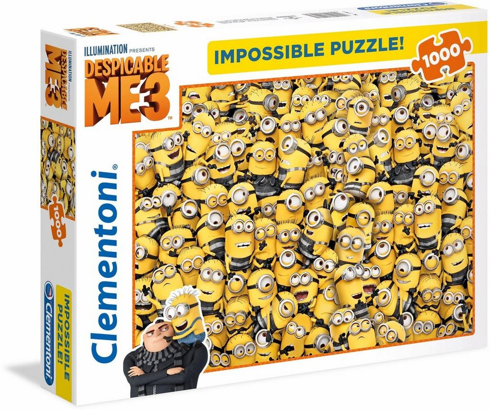 clementoni puzzle 1000 teile minions impossible puzzle. Black Bedroom Furniture Sets. Home Design Ideas