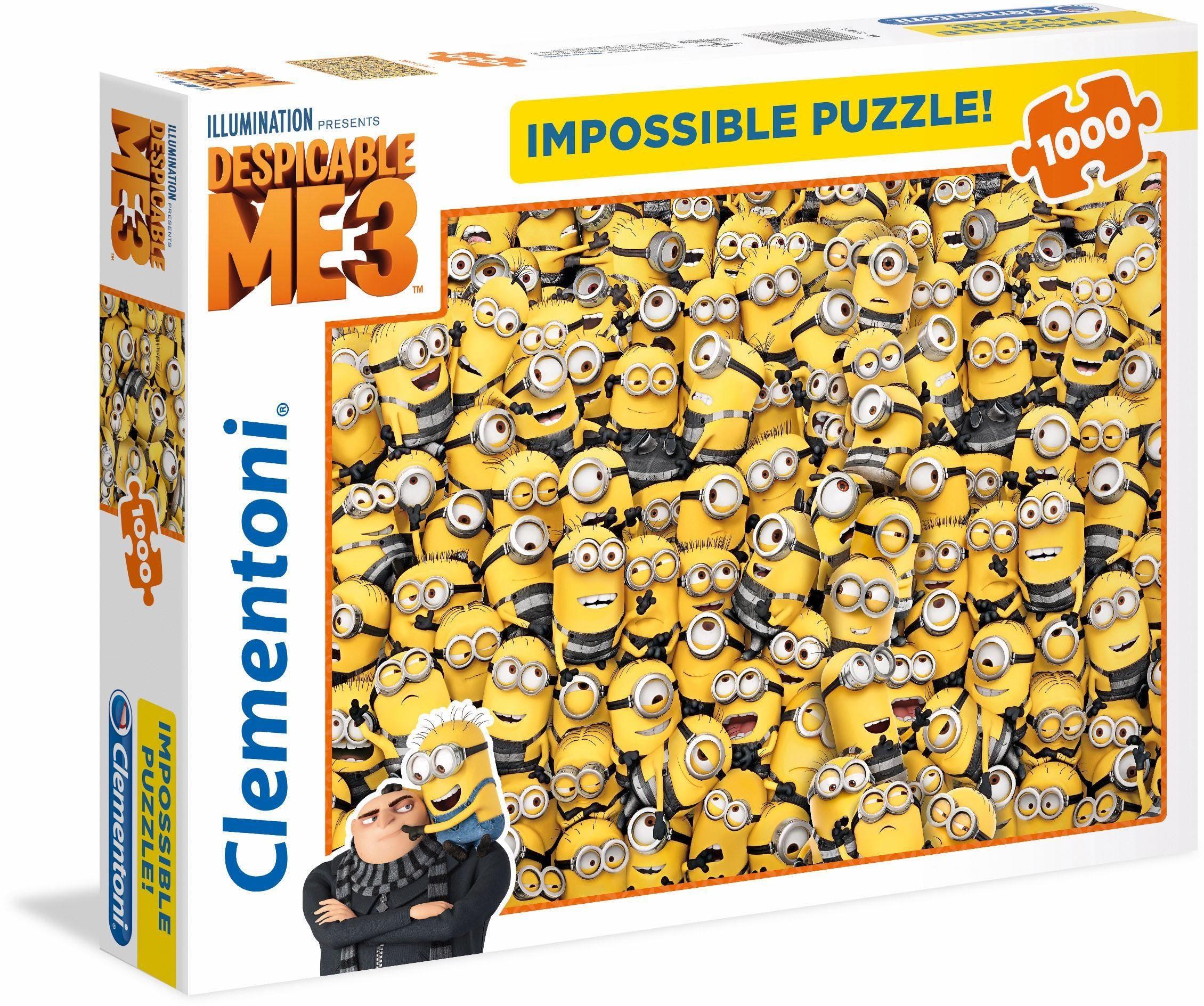 Clementoni Puzzle, 1000 Teile, »Minions, Impossible Puzzle«