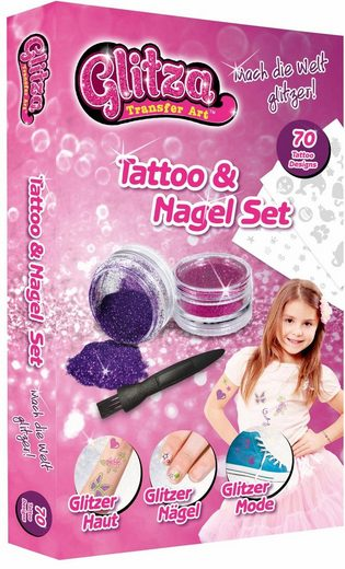 knorrtoys kreativset glitza tattoo nagelset klein. Black Bedroom Furniture Sets. Home Design Ideas