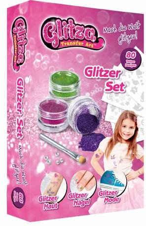 Knorrtoys® Kreativset »Glitza Tattoo + Nagel Set«, (Set), Auch als Geschenk verwendbar