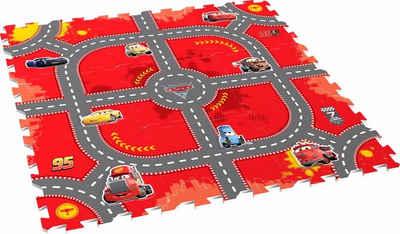 Knorrtoys® Puzzle »Disney/Pixar Cars, Modular Race«, 17 Puzzleteile, Puzzlematte, Bodenpuzzle