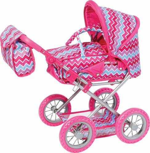 knorr toys Kombipuppenwagen, »Ruby, pink zigzag«
