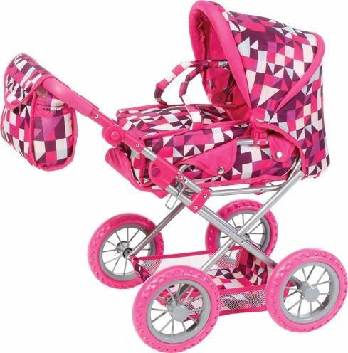 Knorr toys Kombipuppenwagen,  Ruby, crazy squares
