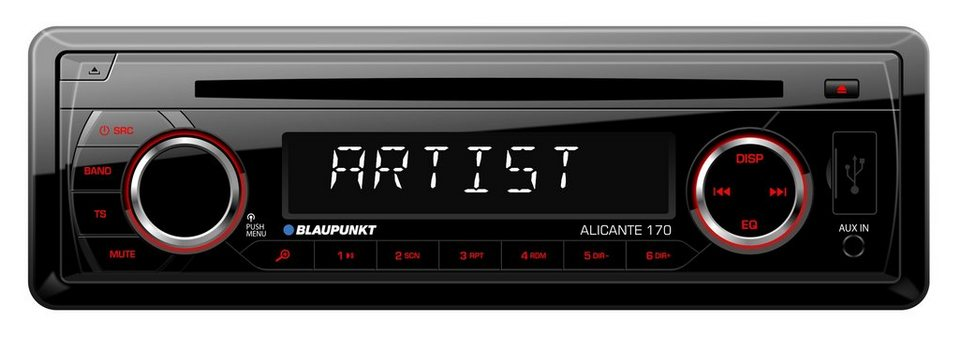 blaupunkt 1 din autoradio mit cd player usb anschluss. Black Bedroom Furniture Sets. Home Design Ideas