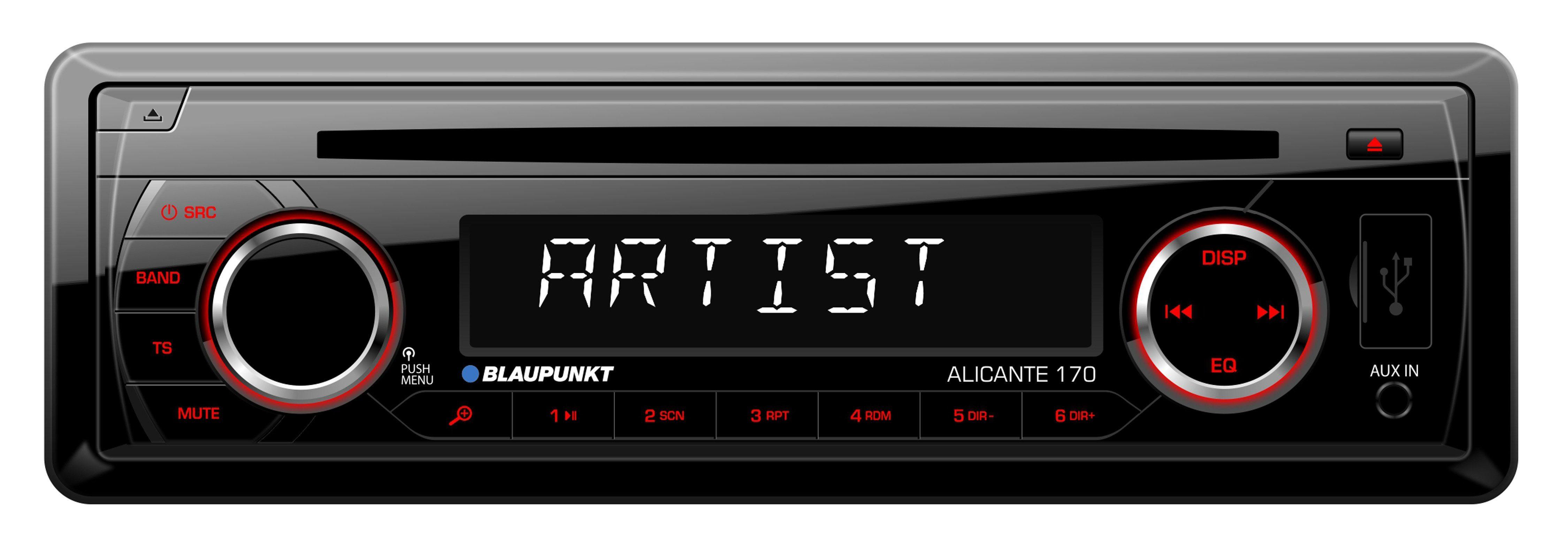 Blaupunkt 1-DIN Autoradio mit CD-Player, USB-Anschluss »ALICANTE 170«