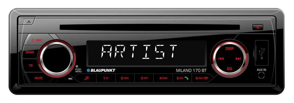 blaupunkt 1 din autoradio mit cd player bluetooth usb anschluss milano 170 bt online kaufen. Black Bedroom Furniture Sets. Home Design Ideas