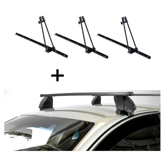 VDP Fahrradträger, 3x Fahrradträger ORION + Dachträger K1 MEDIUM kompatibel mit Audi A3 (8PA) Sportback (5Türer) 04-12