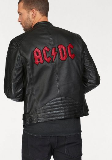 Gipsy 2.0 Lederjacke AC/DC, mit Rückenapplikation