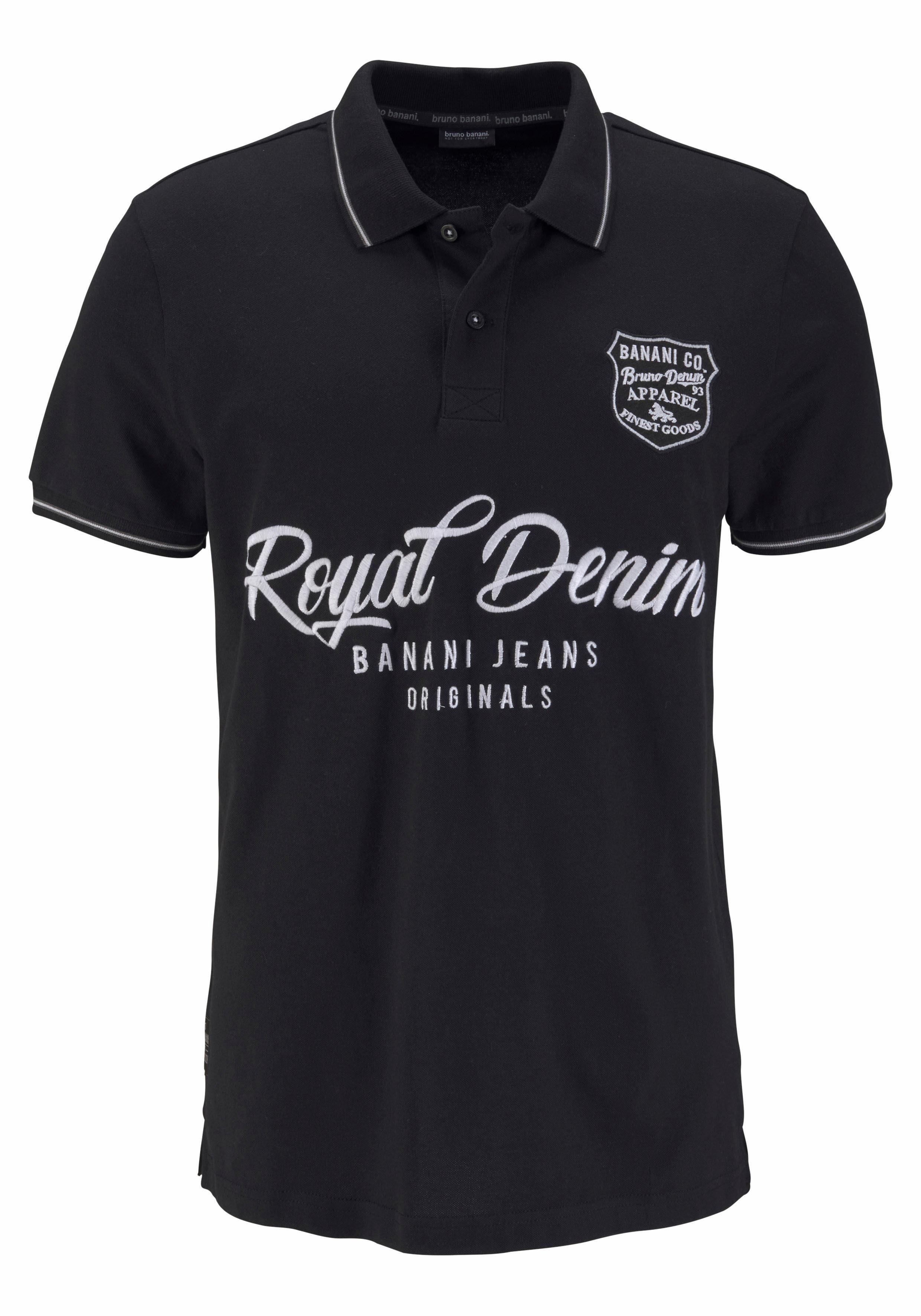 Kaufen Poloshirt Piqué Vorne qualitätHochwertige Online Bruno Stickereien Banani 45Aq3jRL