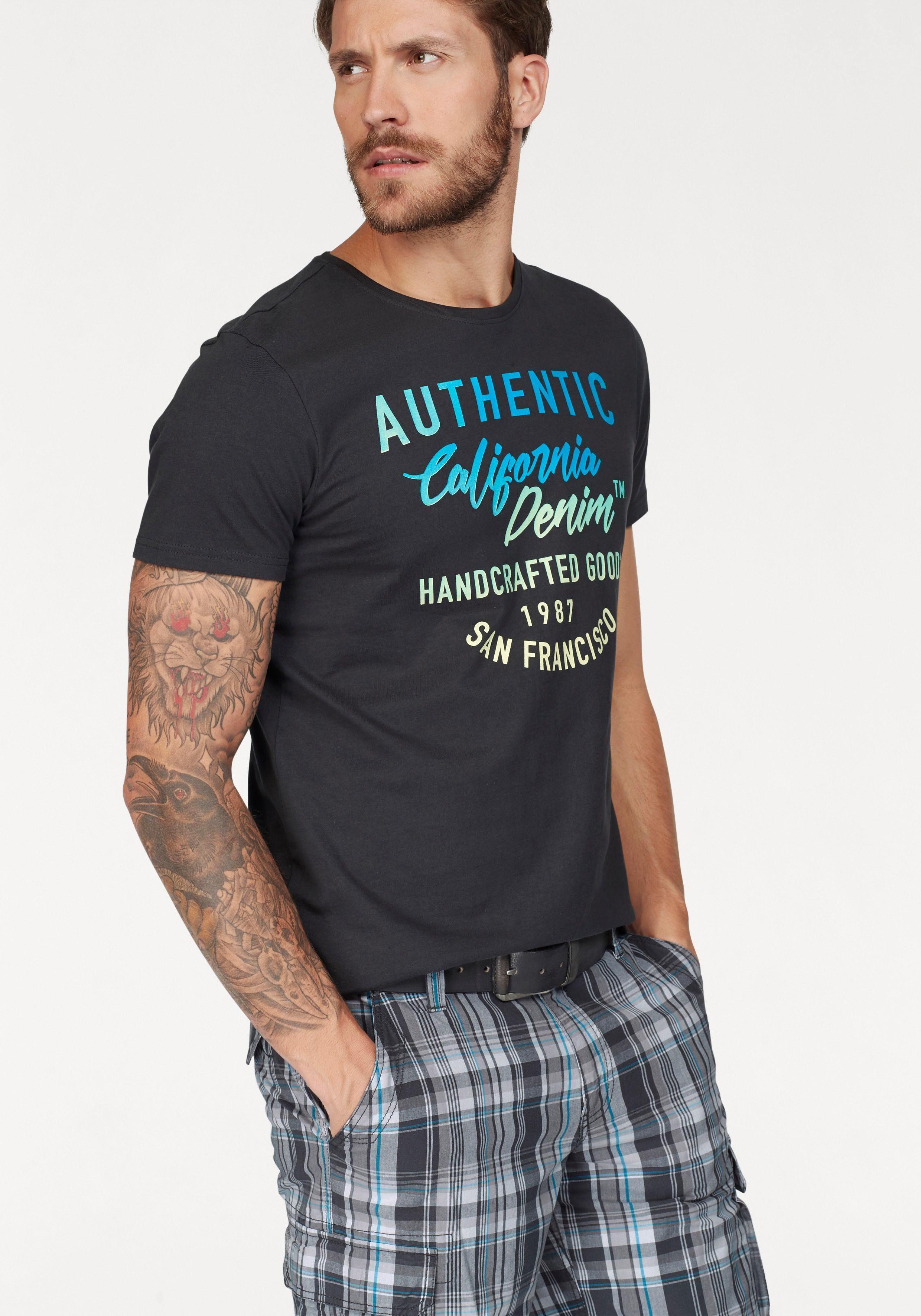 John Devin T Shirt mit coolem Druck, Shirt mit mehrfarbigem Print online kaufen   OTTO