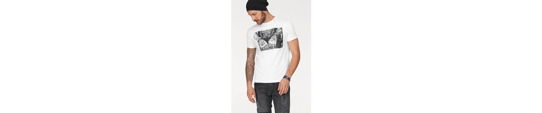 Replay T-Shirt, mit Totenkopfprint