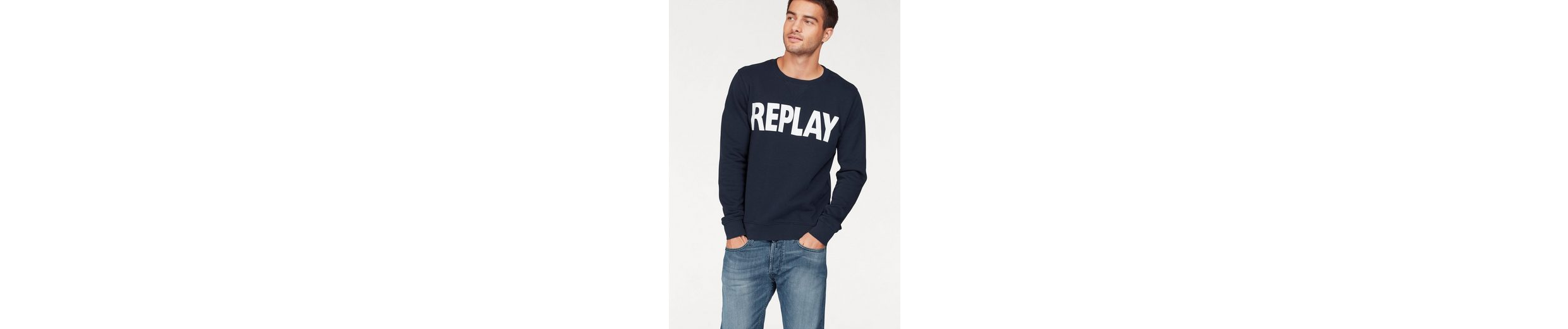 Replay Sweatshirt, mit Markenprint
