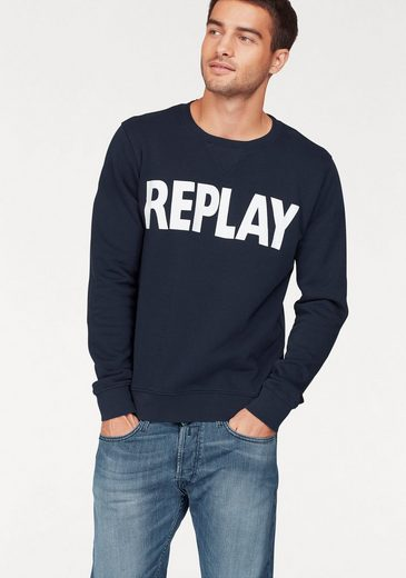 Replay Sweatshirt, mit Markenprint