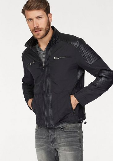 Bruno Banani Biker Jacket, Elements With Faux Leather