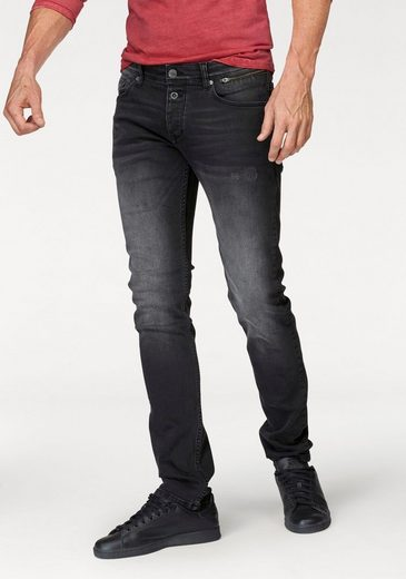 Q/S designed by Slim-fit-Jeans, Mit modischer Knopfleiste