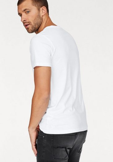 Tom Tailor Denim Rundhalsshirt, mit Markenstickerei